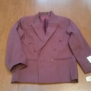 NWT- Boys' burgundy double breasted jacket